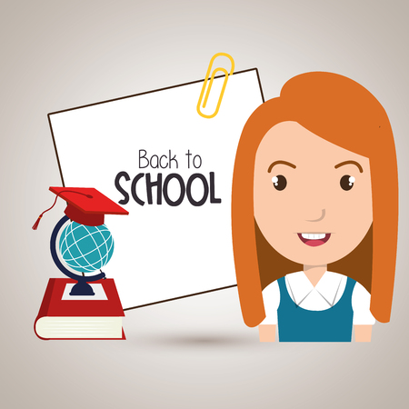 illsutration: student book map school vector illustration
