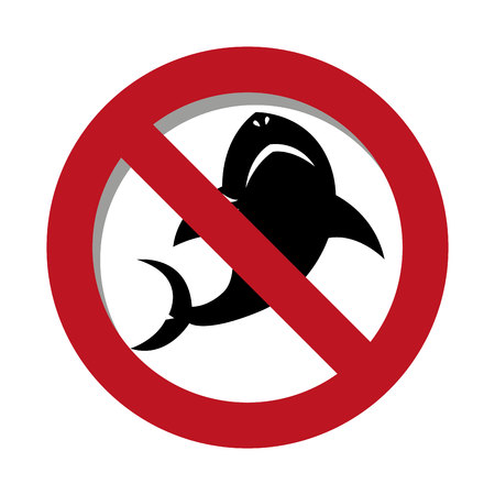 shark signal silhouette icon vector illustration design