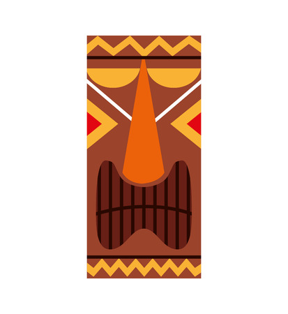 hawaiian tiki culture icon vector illustration design Illustration
