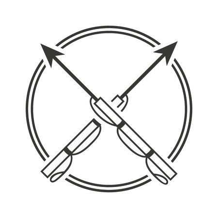 harpoen visuitrusting pictogram vectorillustratieontwerp