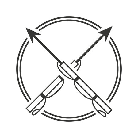 spearfishing: harpoon fishing equipment icon vector illustration design
