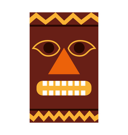 hawaiian culture: hawaiian tiki culture icon vector illustration design Illustration
