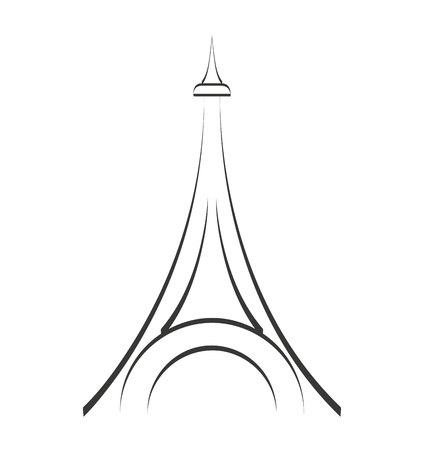 localization: tower eiffel structure icon vector illustration design