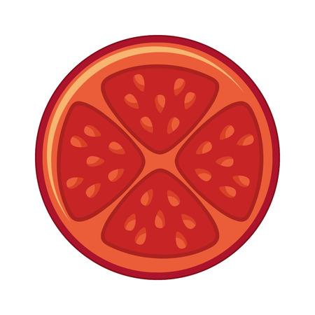 ingredient: tomato vegetable ingredient health icon vector illustration design