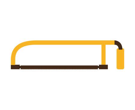 handsaw: handsaw service tool icon vector illustration design