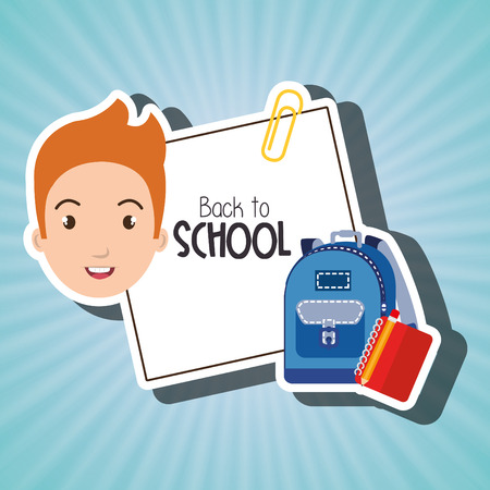 illsutration: student bag book school vector illustration Illustration