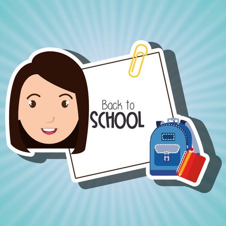 student bag book school vector illustration Illustration