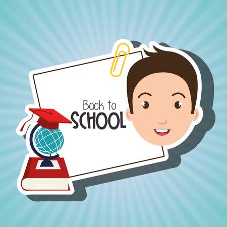 student book map school vector illustration