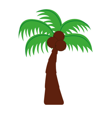 subtropical: tree palm silhouette icon vector illustration design