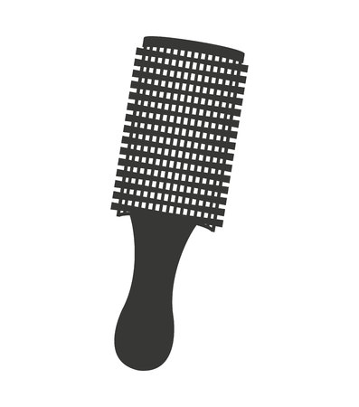 borzoi: hairbrush equipment silhouette icon vector illustration design