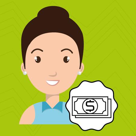 esp: woman adul camera vector illustration esp 10