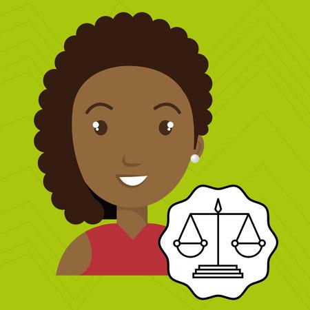 esp: woman law justice balance vector illustration esp 10