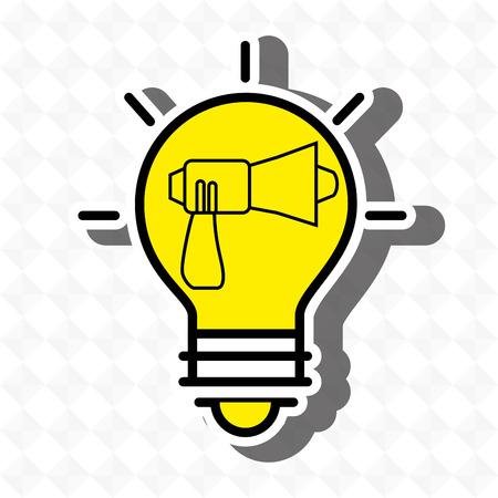 idea bulb speaker icon vector illustration graphic Illustration