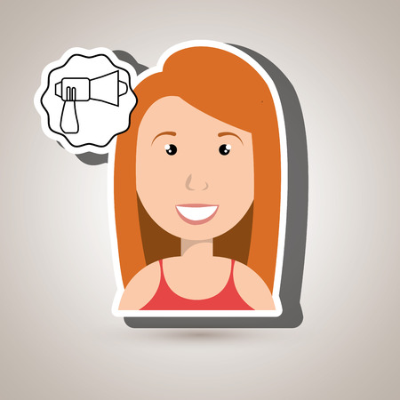 woman adul megaphone speaker vector illustration Illustration