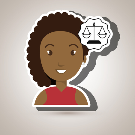 justice balance: woman law justice balance vector illustration esp 10