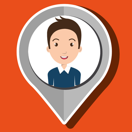 literacy: student cap pin location vector illustration