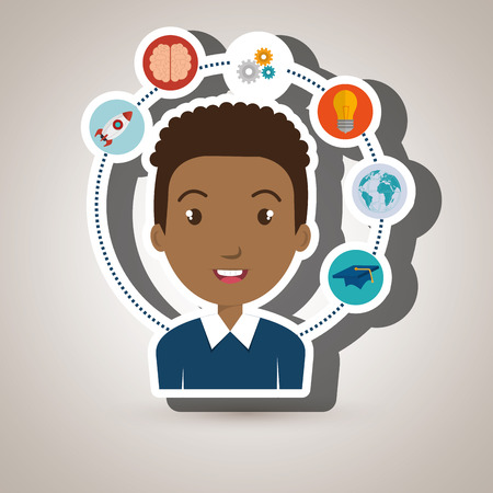 student idea science connection vector illustration Illustration