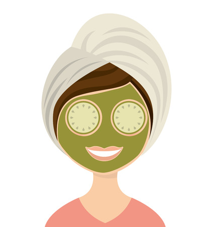 bath treatment: woman female threatment spa icon vector illustration design