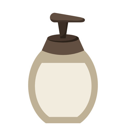 body fluid: soap bottle product icon vector illustration design
