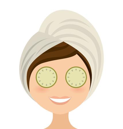 woman female threatment spa icon vector illustration design