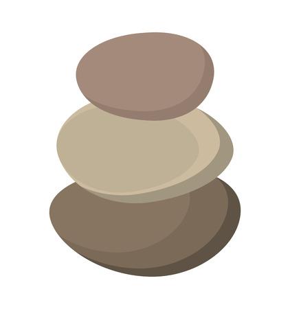 therapeutic: stones rocks spa icon vector illustration design Illustration