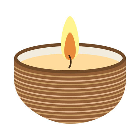 candle flame: candle flame spa icon vector illustration design