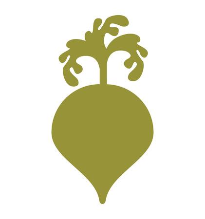 fruit and vegetable: beet vegetable health icon vector illustration design Illustration