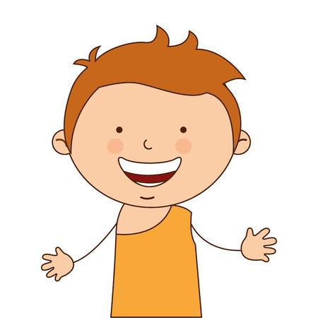 indian boy: indian boy character icon vector illustration design Illustration