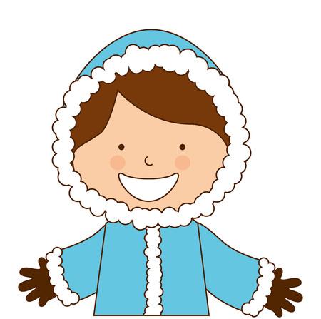 alaska: alaska boy character icon vector illustration design