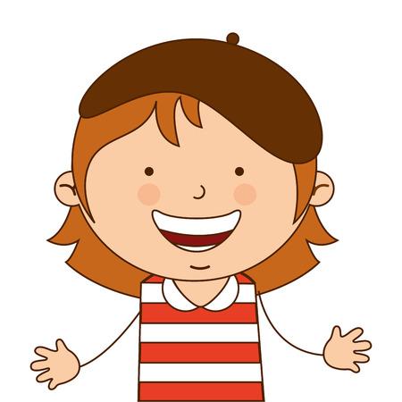 australian culture: australian girl character icon vector illustration design