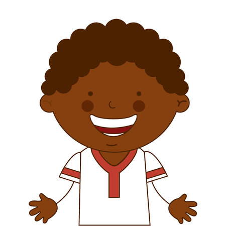 african boy: african boy character icon vector illustration design