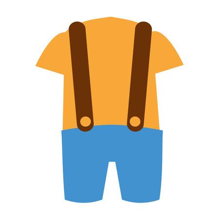 design costume: classic ethnic costume icon vector illustration design Illustration