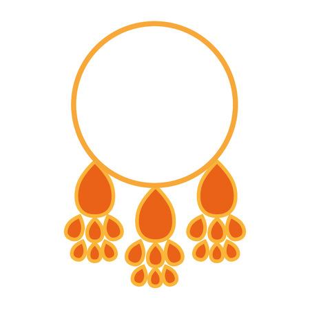 perform performance: classic ethnic ring icon vector illustration design