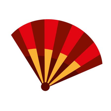 spanish fan: fan air spanish icon vector illustration design