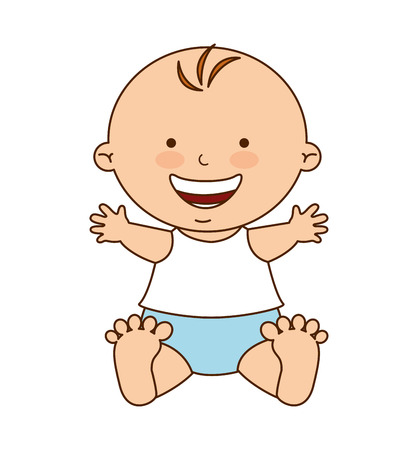 baby sitting: little cute baby icon vector illustration graphic