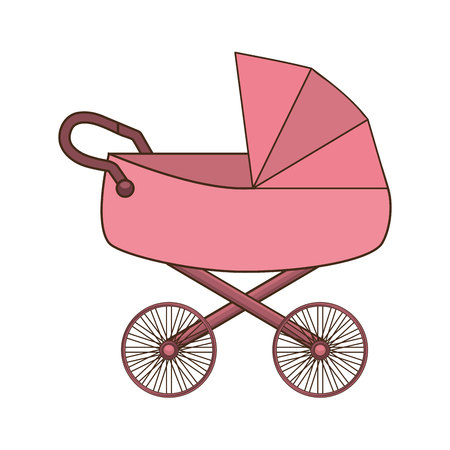 cart baby isolated icon vector illustration graphic