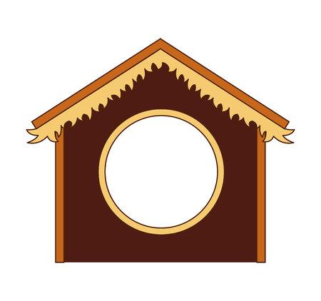 stable: silhouette stable manger icon vector illustration design Illustration
