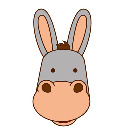mule: mule character isolated icon vector illustration graphic