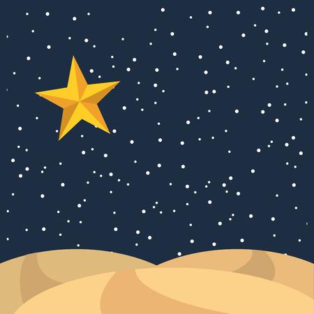 nuit étoilée icône paysage illustration vectorielle conception