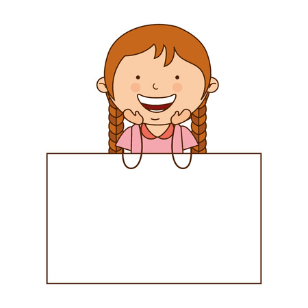 smile icon: little girl smile icon graphic isolated vector Illustration