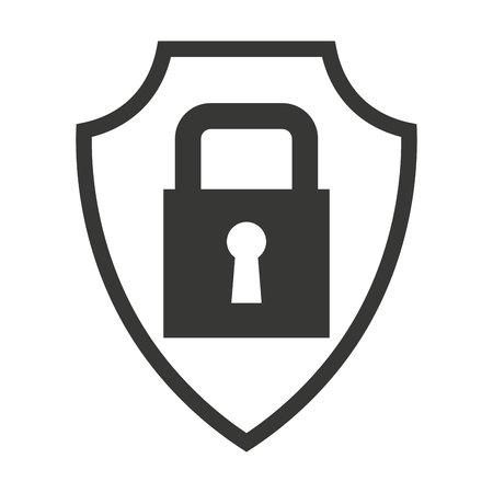 trustworthy: shield isolated insurance icon vector illustration design