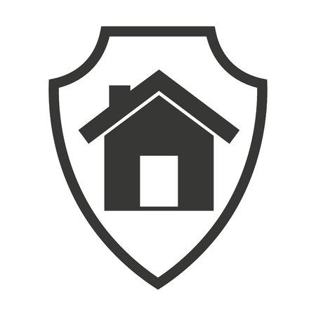 isoliert Versicherung Symbol Vektor-Illustration, Design, Schild