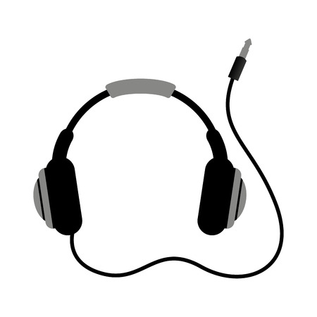 earphone wire music icon vector illustration design