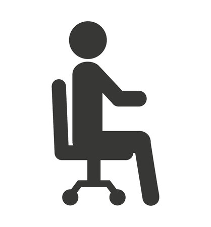 seated: human figure silhouette seated icon vector illustration design