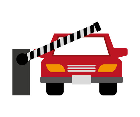 barricade: barricade parking isolated icon vector illustration design