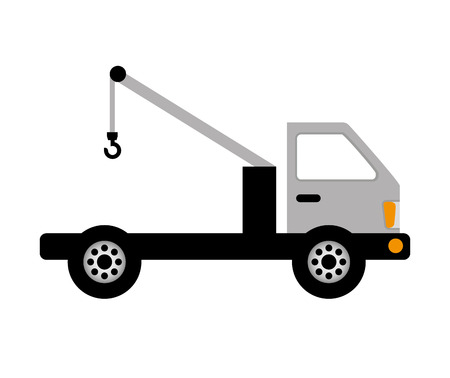 emergency engine: crane truck service icon vector illustration design Illustration