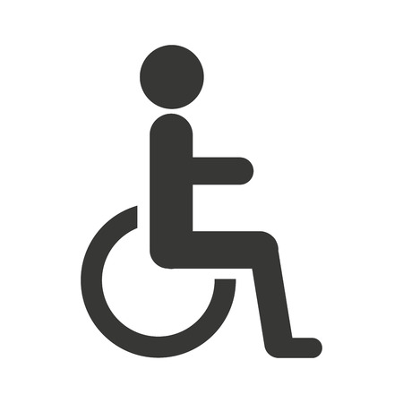 disabled access: disable person wheelchair icon vector illustration design
