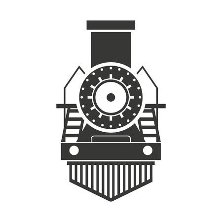 high road: train transport public isolated icon vector illustration design