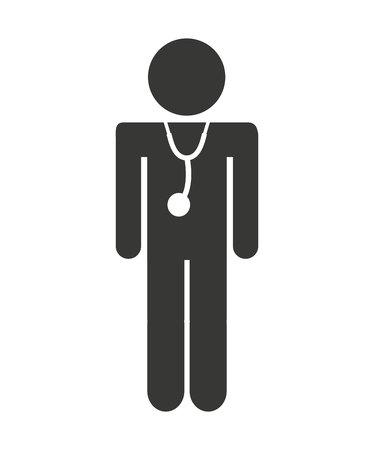 médecin chiffre icône illustration conception humaine Vecteurs
