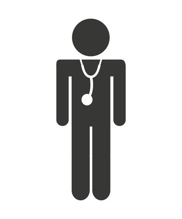 doctor human figure icon vector illustration design